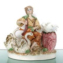 Capodimonte Figurine Large!! Xl Italian Vintage Italy Man Boy Porcelain Unglazed - $206.91