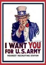 World War I - Uncle Sam - I Want You - Patriotic Poster - $9.99+