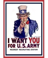 World War I - Uncle Sam - I Want You - Patriotic Poster - $9.99+