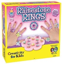 Kids Ring Making Kit Flower Butterfly Sparkly Rings Complete Craft Rhine... - $23.74