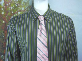 GAP Fitted Premium -Olive Green-Purple -STRIPED-BUTTON-DOWN-SHIRT-S-2XL - $6.00