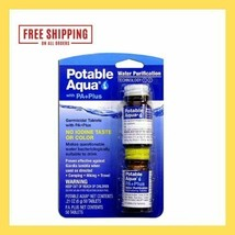 Potable Aqua Water Purification Tablets with PA Plus neutralizing tablet... - $23.00