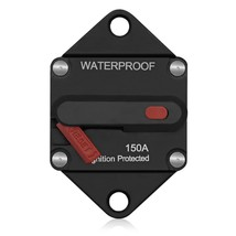 WUPP CS - 643A Car Circuit Breaker Reset Switch(BLACK 150A) - $25.68