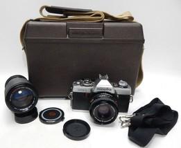 Minolta XG-1 35mm SLR Film Camera Konica Konishiroku HARD CASE tokina 80... - $39.59