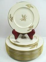 11 Lenox HARVEST Gold Wheat Center & Rim Salad & Bread plates Bundle of 11 Piece - $48.51