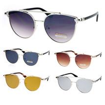SA106 Womens Boyfriend Fit Flat Lens Hipster Metal Horn Rim Sunglasses - $12.95