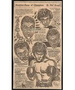 Rocky Marciano Boxing Brockton Champs Sports Cartoon Newspaper Clipping ... - $15.99