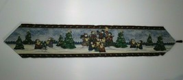 "Christmas Table Runner Snowman Family Caroling 70"" x 13"" Holiday - $14.36"