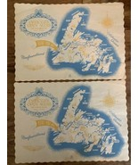 (2) Vintage Ernest Harmon Air Force Base Officer's Open Mess Place Mats ... - $39.59