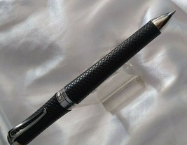 Chopard ballpoint pen unisex classic racing black rubber and palladium - $366.80