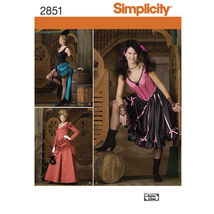 S2851Misses Old West Saloon Costume Sizes 14-20 Simplicity Sewing Pattern - $5.89