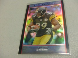 2007 Bowman Chrome Refractor #BC134 Willie Parker -Pittsburgh Steelers- - $3.12
