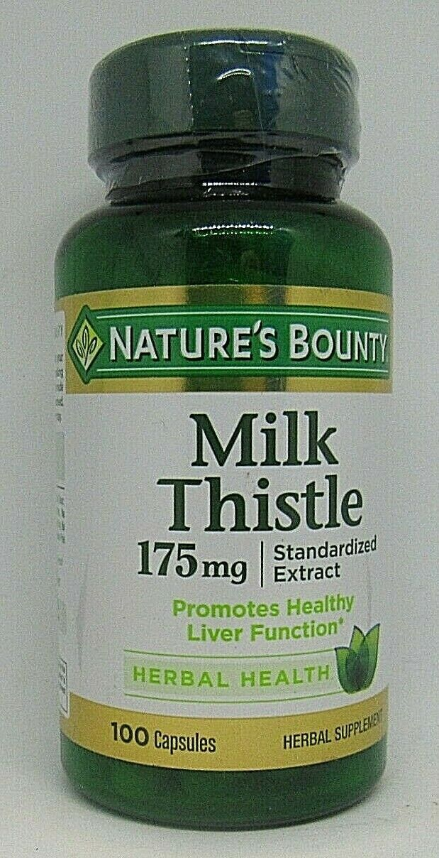 Primary image for NATURE'S BOUNTY MILK THISTLE 175MG CAPSULES 100 COUNT Exp. 3/23