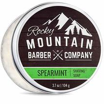 Shaving Soap - Traditional 100% Natural Spearmint Shave Soap - Long Lasting 3.7  image 11