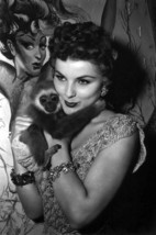 Debra Paget Posing with Monkey 24x18 Poster - $23.99