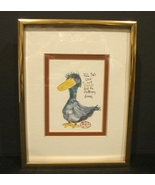 Don Nedobeck Print with Personal  Inscription Drawing Signature on Back - $15.00
