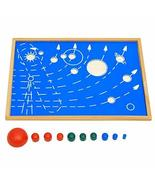 DANNI Montessori Baby Toy Solar System Rotating Planets Early Childhood ... - $29.23