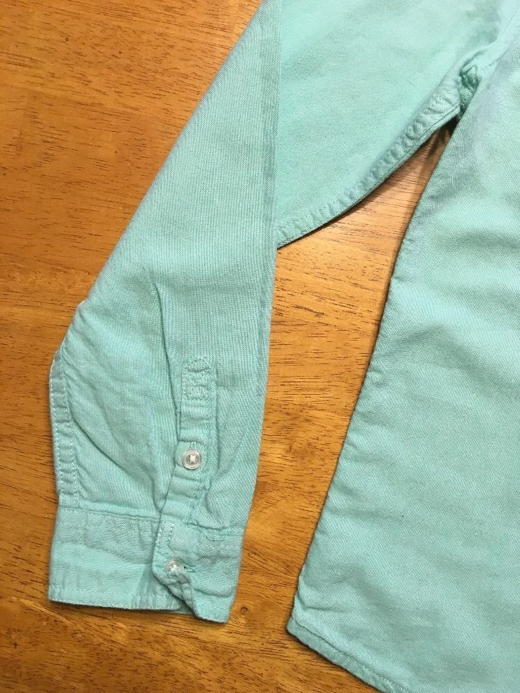 Gap Kids Girl's Teal Long Sleeve Dress Shirt - Size: Medium image 6
