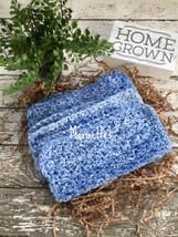 Handmade Kitchen Crochet Dish Cloths Blue Blues Washcloth Dishcloth Set ... - $18.75