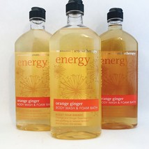 3 Bath & Body Works Aromatherapy Energy Orange Ginger Body Wash Foam Bat... - $32.44