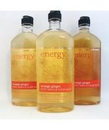 3 Bath & Body Works Aromatherapy Energy Orange Ginger Body Wash Foam Bat... - $34.64