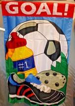 "Goal Flag 28x44"" Decorative Flag Banner Soccer Sports NIP - $13.85"