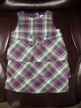 Janie and Jack Multi-Plaid Layered Dress Size 6/12 Months Girl's EUC - $18.40