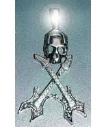 NICE Big Gothic Skeleton Guitar Charm Sterling Silver skull - $47.97