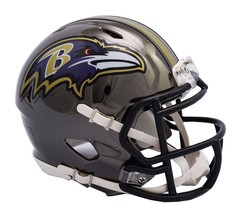 Baltimore Ravens Helmet Riddell Replica Mini Speed Style Chrome Alternate**Free  - $29.99