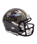 Baltimore Ravens Helmet Riddell Replica Mini Speed Style Chrome Alternat... - $29.99