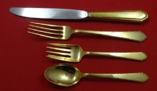 Primary image for William and Mary Vermeil By Lunt Sterling Silver Regular Place Setting(s) 4pc