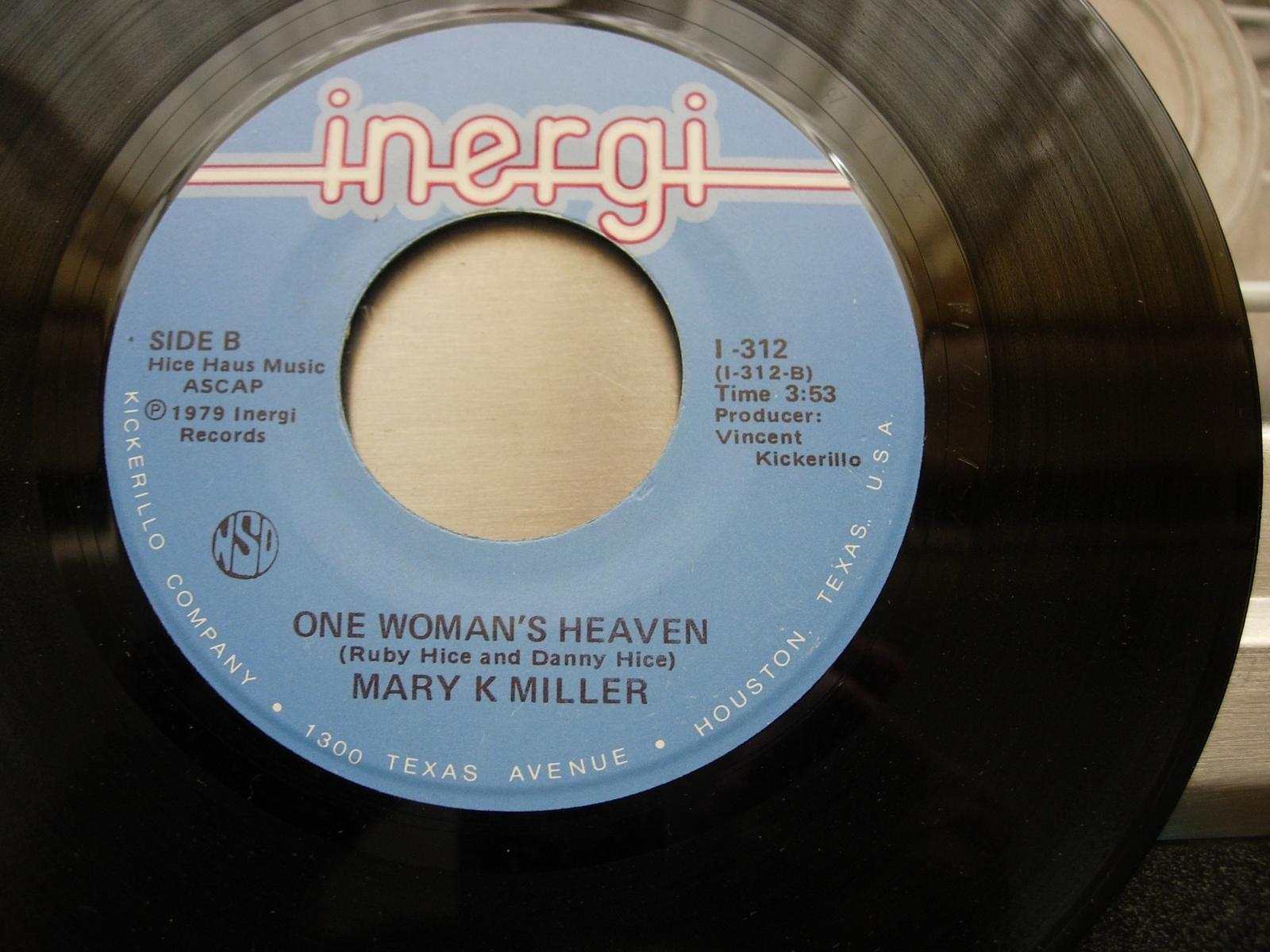 Mary K. Miller - Next Best Feeling / One Woman's Heaven - Inergi I-312