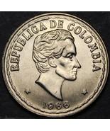 Colombia 20 Centavos, 1966 Gemma UNC ~ Simon Bolivar - $3.62