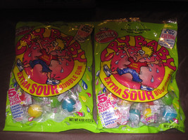 Cry Baby Sour Lemon Cherry Berry Orange Apple Bubble Gum 2-4 oz. Bags - $5.38
