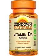 Sundown Naturals Vitamin D3 5000 IU, 150 Softgels - $11.12