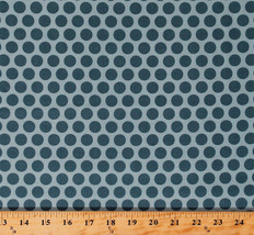 Something Blue Edyta Sitar Polka Dots Sky Cotton Fabric Print by Yard D3... - $12.49