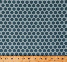 Something Blue Edyta Sitar Polka Dots Sky Cotton Fabric Print by Yard D379.29 - $12.49