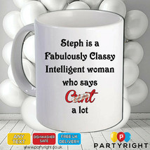 Personalised Rude Funny Swearing Mug • Says C**t A Lot • Perfect Gift - $8.61