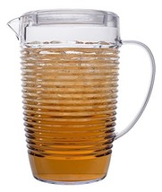 Break Resistant Clear Plastic Pitcher with Lid for Iced Tea, Sangria, Le... - $27.39