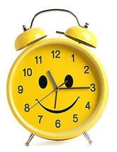 "Sino promotion Large Smile Hammer Bell Alarm Clock Diameter 11.8"" 30cm AA 3-Batt"
