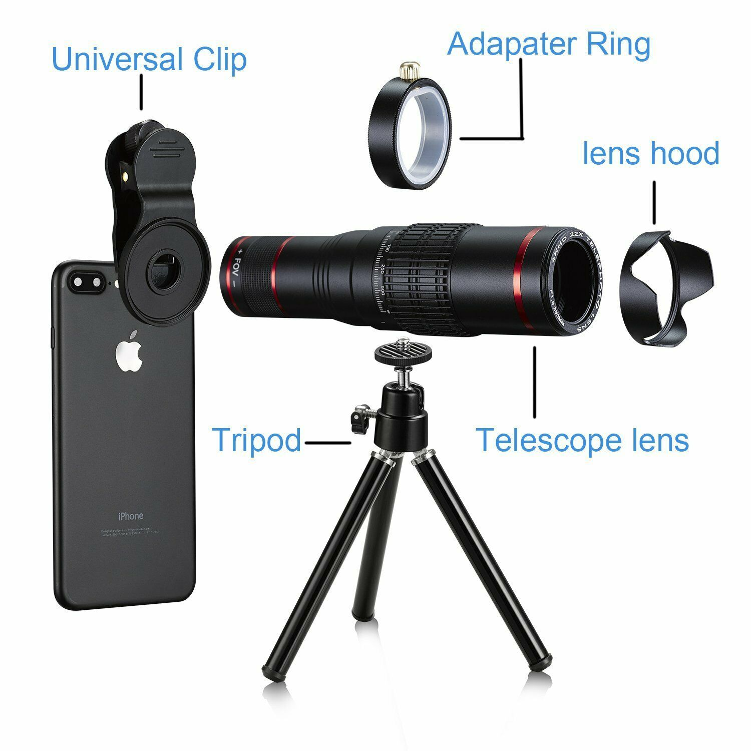 Primary image for Mobile Camera Lens 22x Phone Camera Telephoto Lens, Double Regulation Phone Lens