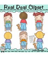 Time Out Kids Clipart - $1.25