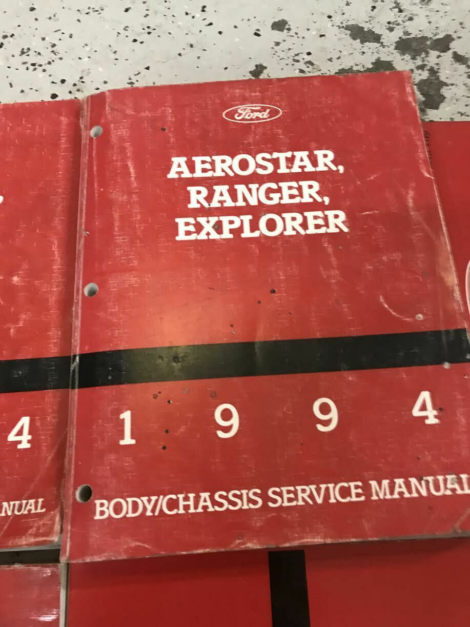 1994 Ford Ranger Explorer Aerostar Workshop Service Shop Repair Manual Set OEM +