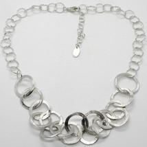 Collar Gargantilla Plata 925 con Círculos Ingeniado By Maria Ielpo ,Hech... - $225.95