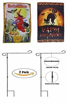 ALBATROS 12 inch x 18 inch Happy Halloween #14 Sleeved with Garden Stand... - $84.15