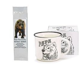 Papa Bear Coffee Mug Cup with Bear Necessity Kentucky Bourbon Flavored C... - $29.59