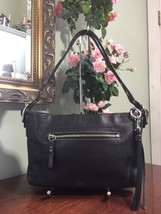Coach Bag Legacy Smooth Black Leather  Tassel  Purse 1417 B2I - $48.37