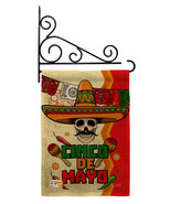 Calavera Cinco de Mayo Burlap - Impressions Decorative Metal Fansy Wall ... - $33.97