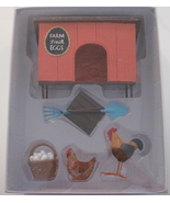 Miniature Back At the Chicken  Farm  With Accessories New In Package - $20.00