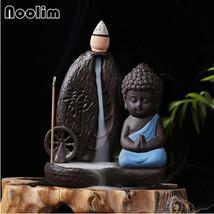 Little Monk Censer Backflow Incense Cones Burner Water Wheel Home Decor ... - $15.99